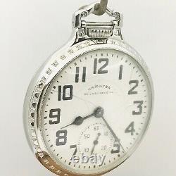 1952 Hamilton 992B 16S 21J SS Display BOC Bar Over Crown Railroad Pocket Watch