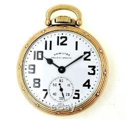 1953 Hamilton Railway Special 992B 21J 16S Pocket Watch EXCELLENT & Running