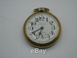 1957 Hamilton Open Face Pocket Watch 992B 21 Jewel Railway Special/ Working