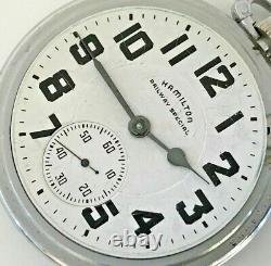 1958 Hamilton Railroad Grade 992B Pocket Watch 21j, 16s Open Face
