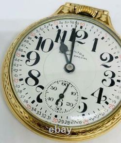 1960 Hamilton Railway Special Pocket Watch 992B 16s 21j Runs Railroad Gold Fill