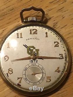 1972 GOLD Karat HAMILTON 23 JEWEL Pocket Watch