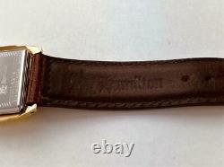 2000s HAMILTON SECKRON DOCTOR Men's Wrist Watch Quartz SWISS With Box RUNS
