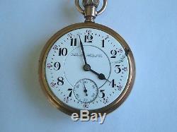 21 Jewel 18 Size Gold Filled Railroad Pocket Watch Hamilton 940 good runner