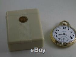 23J Hamilton RARE 950E Montgomery Railroad Dial Gold F Sz 16 with Bakelite Case