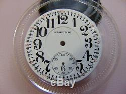 #4 16s Original Hamilton Montgomery Curly 4 Double Sunk Enamel Dial