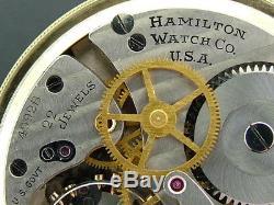 4992b Wwii Era Hamilton 22 Jewel 16 Size 10k Gold Plated Pocket Watch