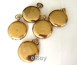 5 Hamilton Pocket Watch, S16,17-21J, RR & Hunter Case, Swing out, Serviced & Run