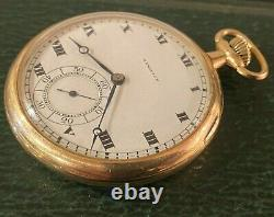920 Hamilton 14k Solid Gold Pocket watch 23 jewels in the box 46mm
