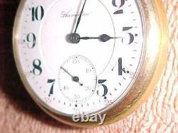 992 1913 Hamilton 21 Jewel Railroad Grade 16 Size Pocket Watch Estate