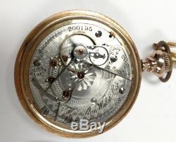 ANTIQUE 1902 HAMILTON POCKET WATCH 18s 17 JEWEL 926 POCKET WATCH works well