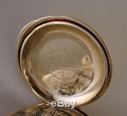 ANTIQUE HAMILTON 939 17j 14k GOLD FILLED HUNTER CASE 18s GREAT POCKET WATCH