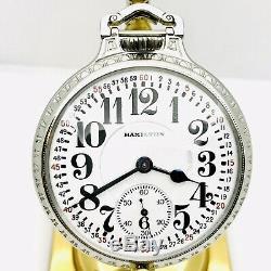 Amazing 1918 Hamilton 16S 21J Grade 002 SS BOC Salesman Railroad Pocket Watch
