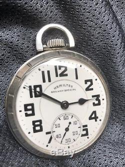 Another High Grade Hamilton 992b 21 Jewel Size 16 Railroad Pocket Watch A+++++++