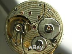 Antique 16s Ball Hamilton 999N Rail Road 23 jewel pocket watch. Made 1911