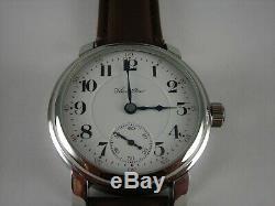Antique 16s Hamilton 993 high grade 21 ruby jewel Wrist Watch. Leather Band 1911