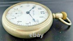 Antique 18 Size 940 Hamilton 21J Railroad Grade Manual Wind Pocket Watch Runs