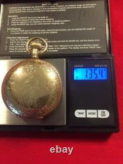 Antique 1900 Hamilton 943 18s 21j Railroad Pocket Watch 2,700 Made-Runs Great
