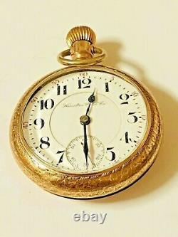 Antique 1903 HAMILTON 940 21 Jewels 18S Railroad Approved POCKET WATCH