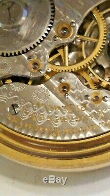 Antique 1904 Size 16 21 Jewels Hamilton 992 Rail Road Pocket Watch / 10K GF
