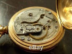 Antique 1906 Hamilton 944 19J 18S Half Hunter GF Open Face Pocket Watch Serviced