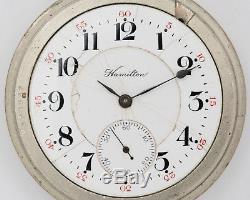 Antique 1908 Hamilton 16s 21j Adj. 990 Pocket Watch out of Estate! RUNNING