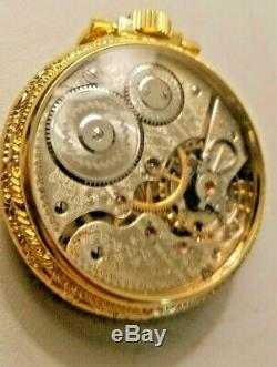 Antique 1910 Hamilton / 21 Jewels / Size 16 / Rail Road Approved Pocket Watch