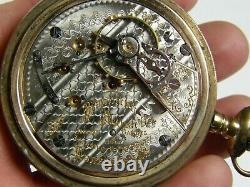 Antique 1910 Hamilton 21j Railroad Grade 940 Motor Barrel Rr Pocket Watch 18s