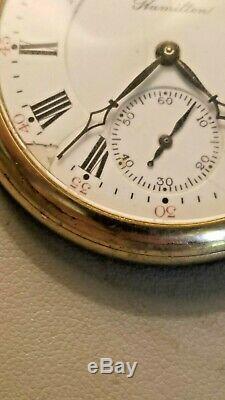 Antique 1910 Hamilton 972 / Size 16 / 17 Jewels Pocket Watch
