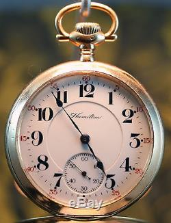 Antique 1911 Hamilton, 990, Model 1, 21j, Railroad Grade, Pocket Watch
