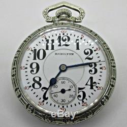 Antique 1911 Hamilton 992 21j 16s Silver Tone Pocket Watch