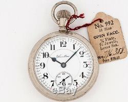 Antique 1912 Hamilton 16s 21j Adj. 992 Pocket Watch with Exhibition Case! Running