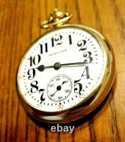 Antique 1920 Hamilton 992 21 Jewels Size 16 RR Approved Pocket Watch