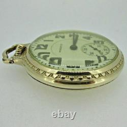 Antique 1939 Hamilton 992 Elinvar 10k Gold Filled Railroad Pocket Watch