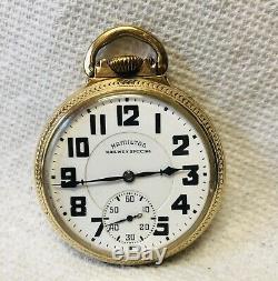Antique (1940-1968) 16S Hamilton 992B 21J Railroad Pocket Watch Model 12