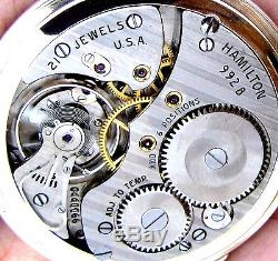Antique 21 Jewel G Filled Two Time Zone 24 Hour Dial Pocket Watch Hamilton 992-B