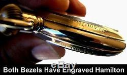 Antique 21 Jewel Salesman Display Case RR Pocket Watch Hamilton 992-B Working