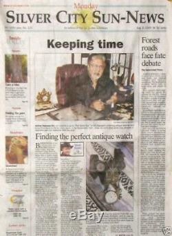 Antique 21 Jewels Salesman Display Case Pocket Watch Hamilton 992-B Working