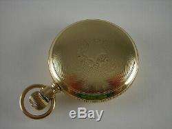 Antique Ball Hamilton 18s, 999 17 jewel Rail Road pocket watch. Gold filled case