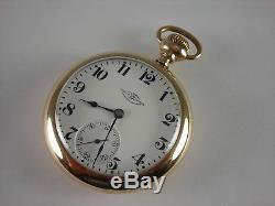 Antique Ball Hamilton 18s, 999H pocket watch, Brotherhood of Railroad Trainmen