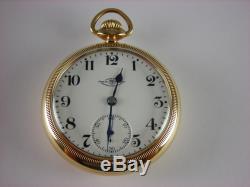Antique Ball Hamilton 999G Brother of Rail Road Trainmen pocket watch 18s 1910