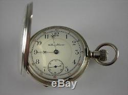 Antique Early 18s Hamilton 937 coin silver hunter case pocket watch. Made 1895