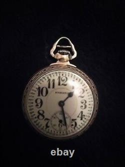 Antique Hamilton 10k Gold Filled 992 21 Jewel Railroad Pocket Watch Works