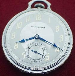 Antique Hamilton 12s 17j 912 Grade Art Deco Pocket Watch In Celluloid Box Clean