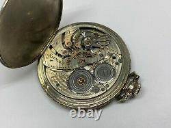 Antique Hamilton 14k Solid Gold Pocket Watch 5 Position 23 Jewels Not Working