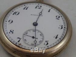 Antique Hamilton 16 size Grade 974 17 Jewel Pocket watch circa 1918 Working