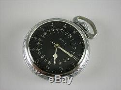 Antique Hamilton 16s 4992B 22 jewels Navigational WW2 pocket watch. Made 1942