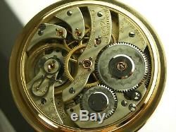 Antique Hamilton 16s, 952 19 jewel Rail Road pocket watch. Gold filled made 1909