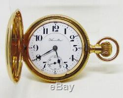 Antique Hamilton 18 Size 941 21 Jewel 14k Solid Gold Hunter Case Pocket Watch