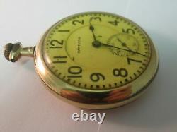Antique Hamilton 21 Jewel 992 Double Roller Gold Railroad Pocket Watch Runs